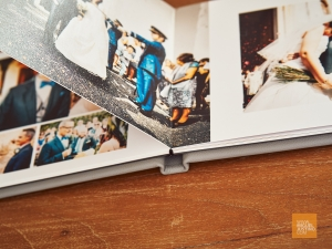 All my wedding photobooks are printed on 0.7mm thick rigid paper, using archival quality inks